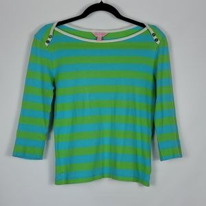 Lilly Pulitzer SMALL boat neck 3/4 length sleeves